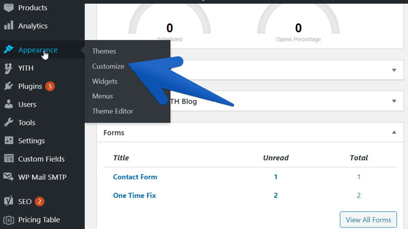 use link relationship in wordpress step 1